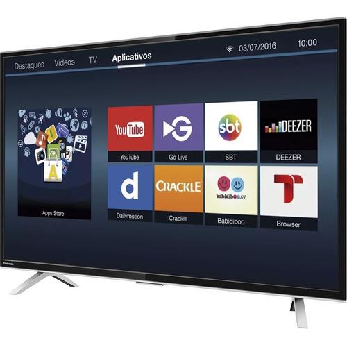 smart tv led 32'' hd toshiba l2800 wi-fi conversor digital