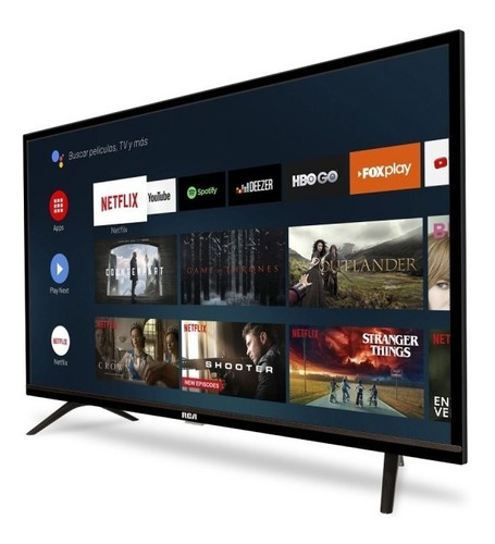 smart tv led 40 rca android tv control voice netflix
