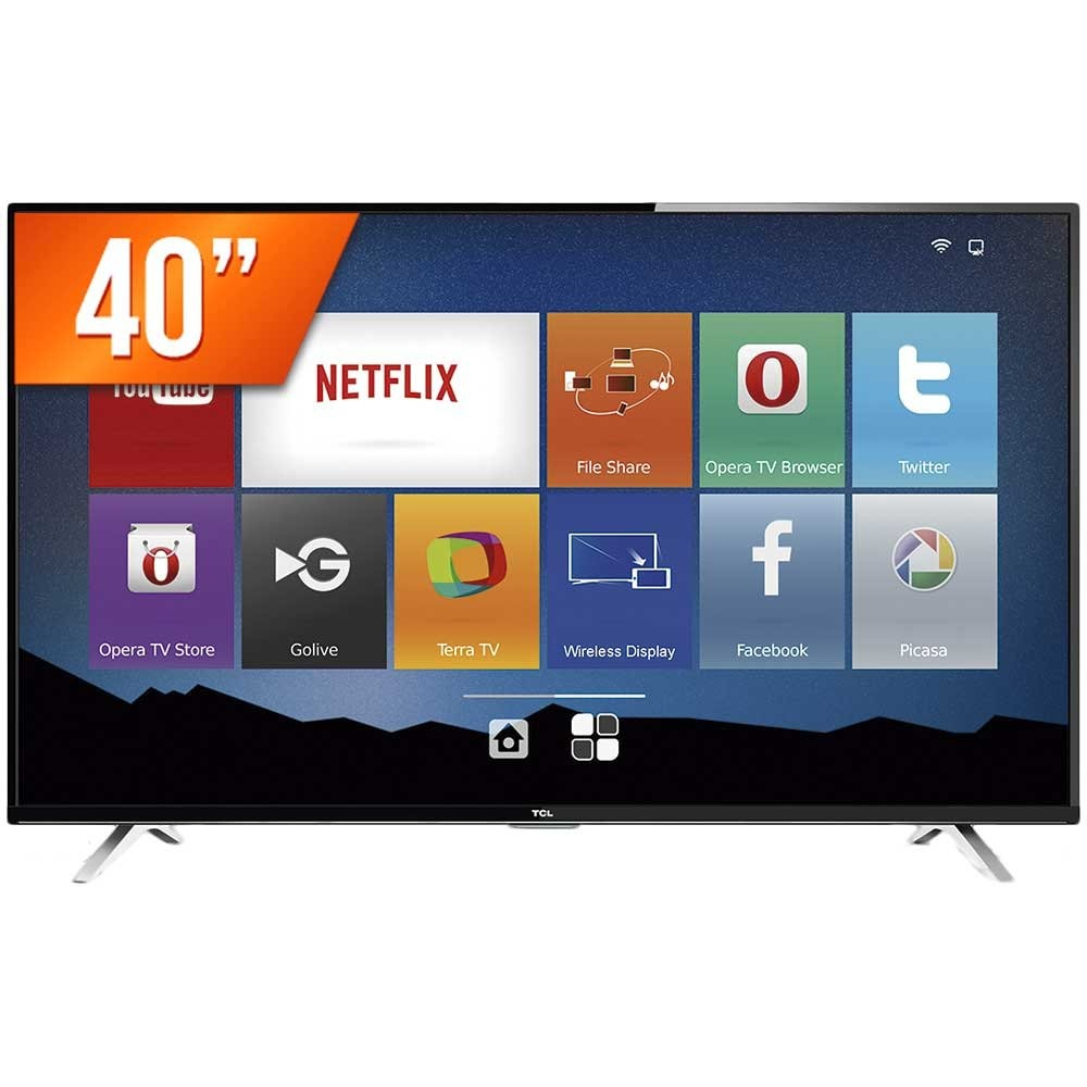 b4bd13b7a5d smart tv led 40 semp toshiba full hd wi-fi tcl 40s4700s. Carregando zoom.