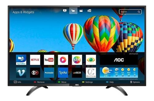 smart tv led 43 polegadas aoc le43s5970s full hd wi-fi 2 usb