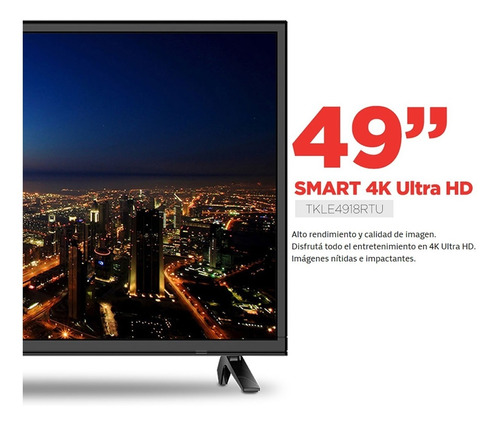 smart tv led 49 4k uhd telefunken tkle4918rtux netflix