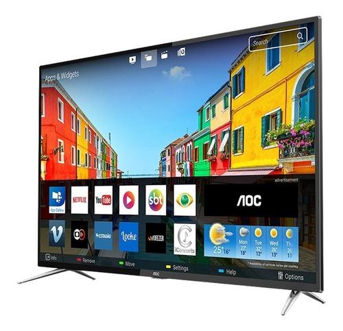 smart tv led 50  aoc le50u7970s 4k uhd, 2 usb, 4 hdmi e 60hz