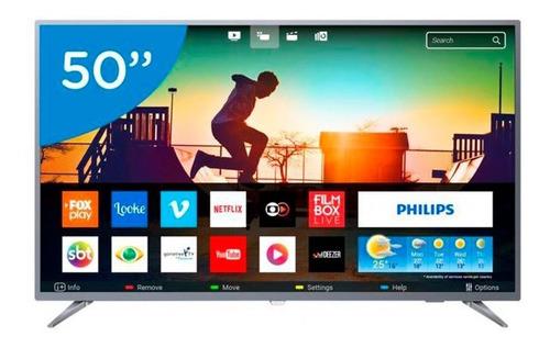 smart tv led 50 polegadas philips 50pug6513 ultra hd 4k