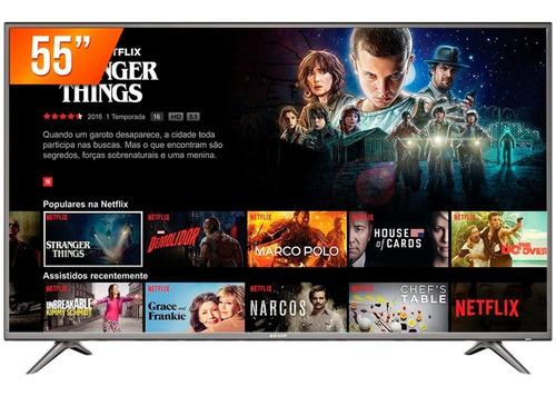 smart tv led 55'' 4k semp 55sk6200 3 hdmi 2 usb wi-fi