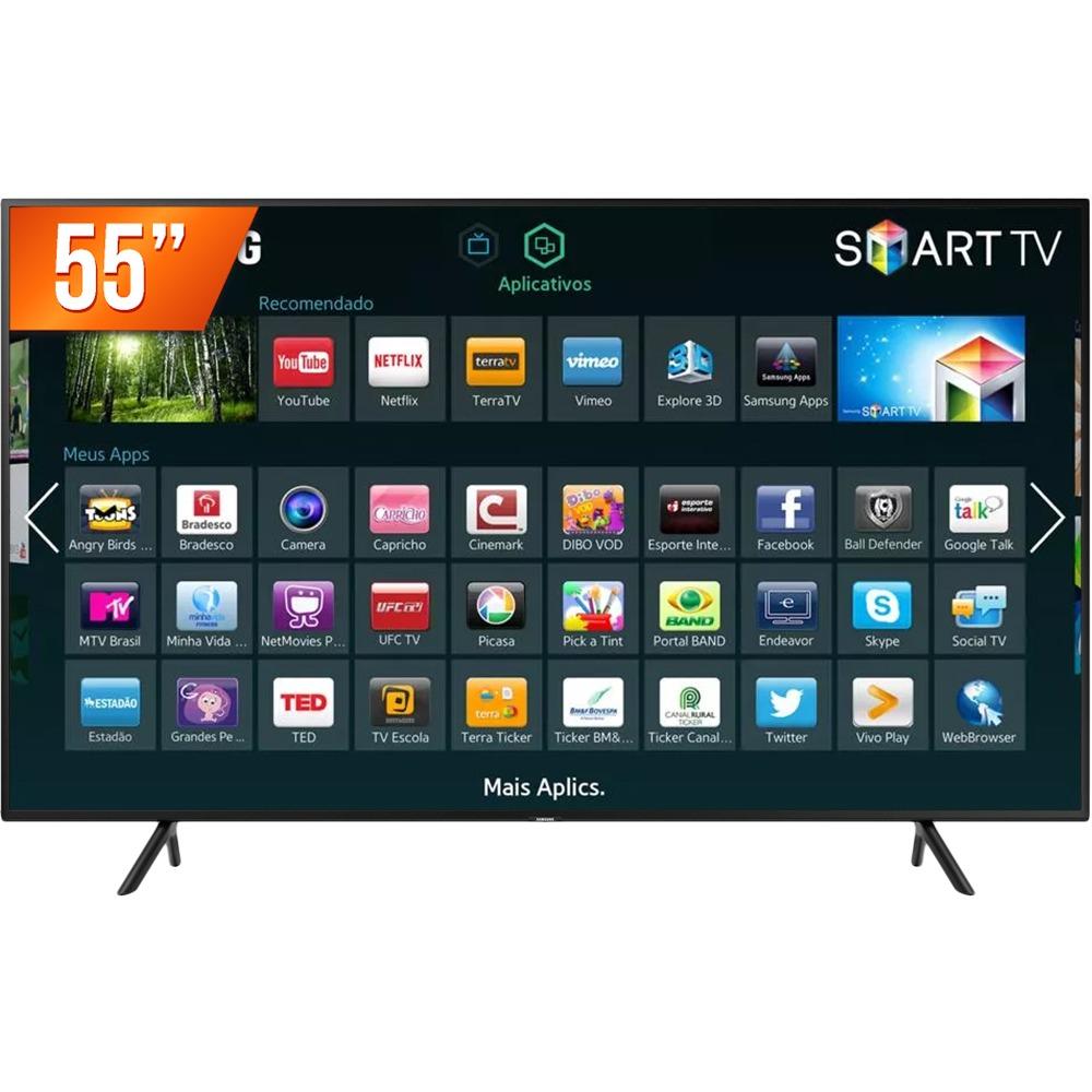 44fdaa44d smart tv led 55   ultra hd 4k samsung nu7100 hdmi usb wi-fi. Carregando zoom .