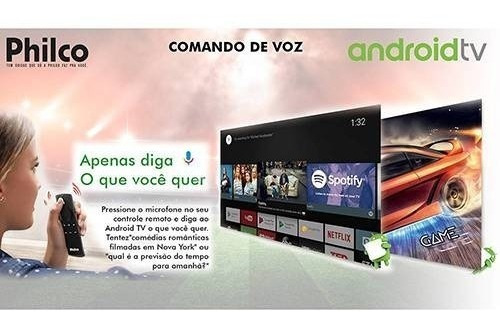 smart tv led 65  philco hd 4k android play android 6.0