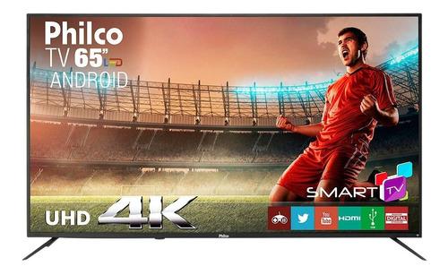 smart tv led 65  philco ptv65a11dsgwa ultra hd 4k com 3 hdmi