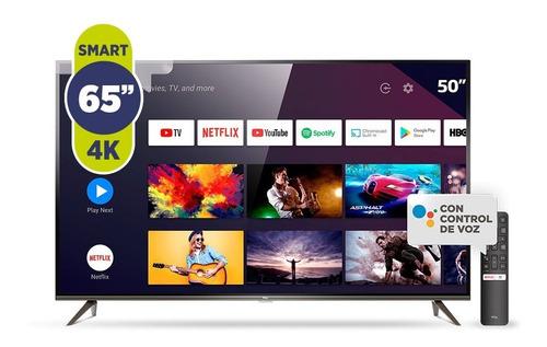 smart tv led 65 tcl l65p8m 4k ultra hd android tv