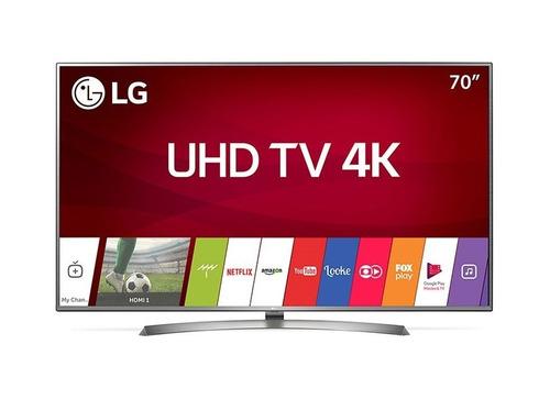 smart tv led 70 polegadas lg 70uj6585 ultra hd 4k com conver