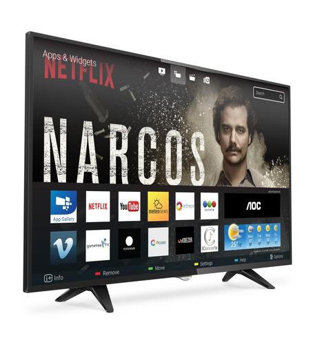 smart tv led aoc fhd le50s5970 wifi netflix tda hdmi