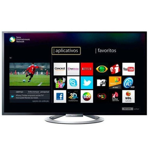 smart tv led full hd + 3d 47` sony espectacular permuto