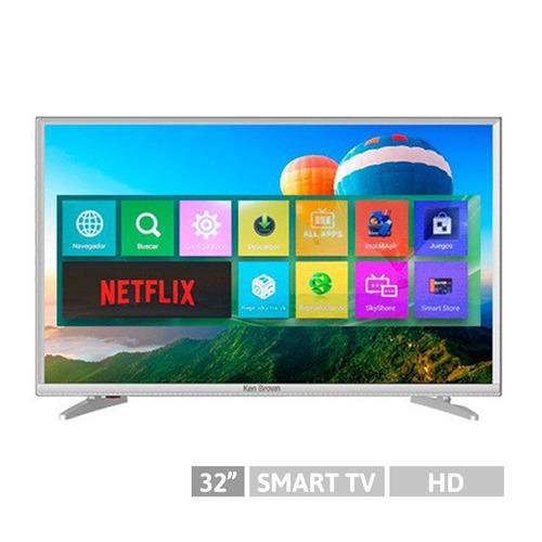 smart tv led ken brown hd 32p android wifi hdmi+usb netflix