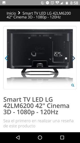 smart tv led lg  de 42  poco uso