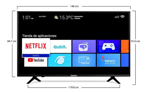 smart tv led panavox 65 hd 4k hdr usb wifi bluetooth credito