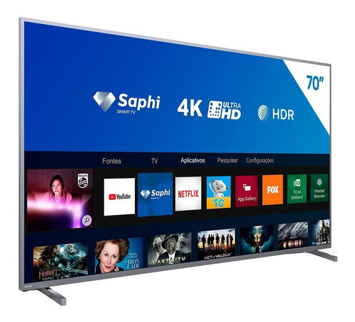smart tv led philips 70  70pug6774/78 4k hdmi wi-fi