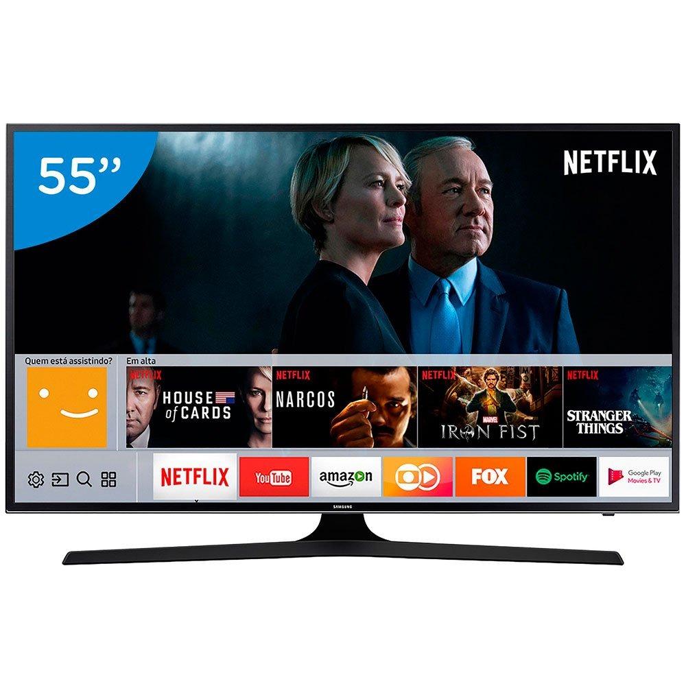 smart tv led samsung 55 polegadas 4k ultra hd wi fi 3 hdmi 2 r em mercado livre. Black Bedroom Furniture Sets. Home Design Ideas