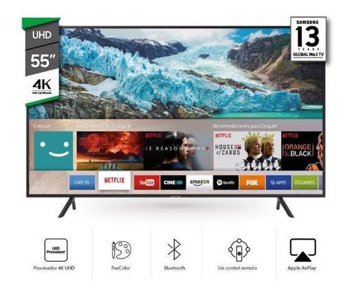 smart tv led samsung 55 uhd 4k ru7100 quad core  pcm