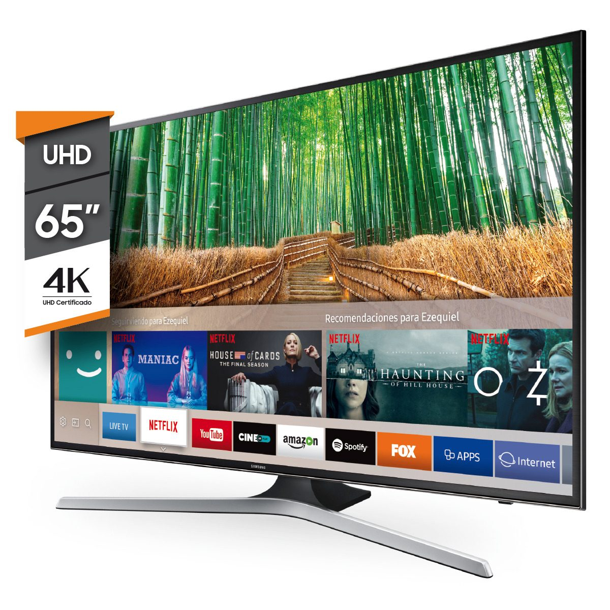 212ff6737 smart tv led samsung 65 pulgadas 4k uhd netflix 65mu6100 env. Cargando zoom.