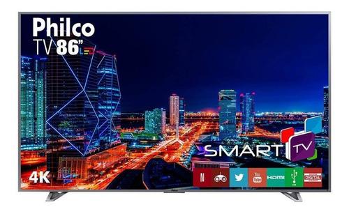 smart tv led ultra hd 4k 86 polegadas philco ptv86e30dswnt