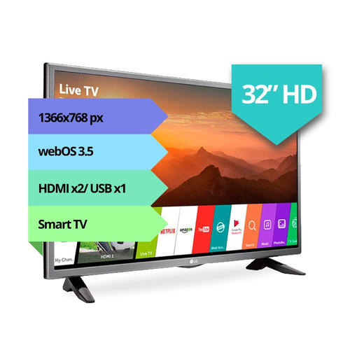 smart tv lg 32 32lj600b hd hdmi usb netflix ips oferta 12cts