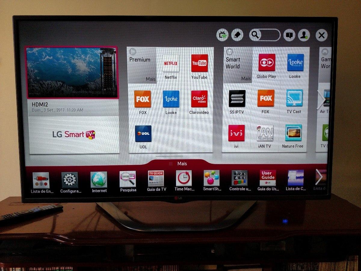 a34dfc1d4 smart tv lg 47 polegadas led 3d wifi full hd la6200. Carregando zoom.