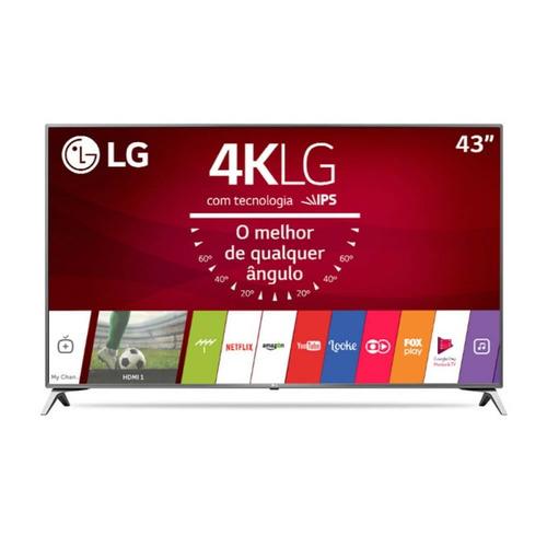 smart tv lg ultra hd 43  painel ips 4k 43uj6525 com webos 3