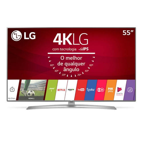 smart tv lg ultra hd 55  painel ips 4k com hdr, upscaler 4k,