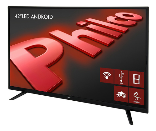 smart tv philco android led 42  phf10dsgwa bivolt