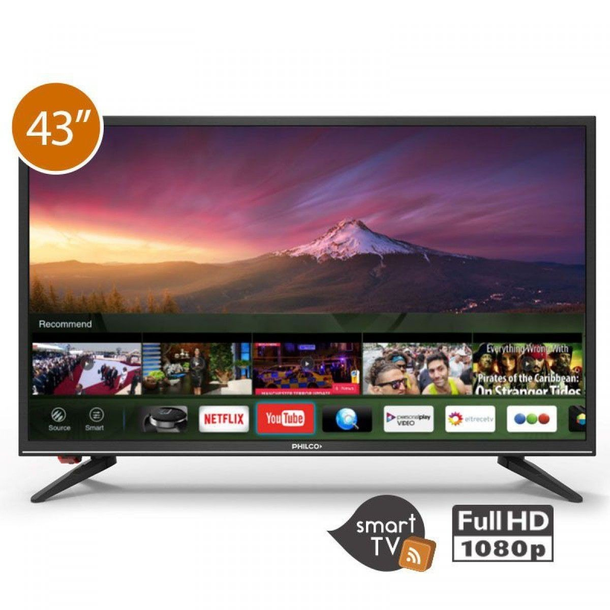 53939bdb1 smart tv philco led 43 no de 50 netflix nueva f hd techcel. Cargando zoom.