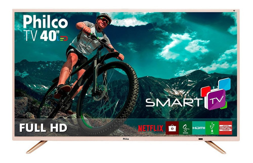 smart tv philco led full hd 40  ptv40e21dswnc bivolt