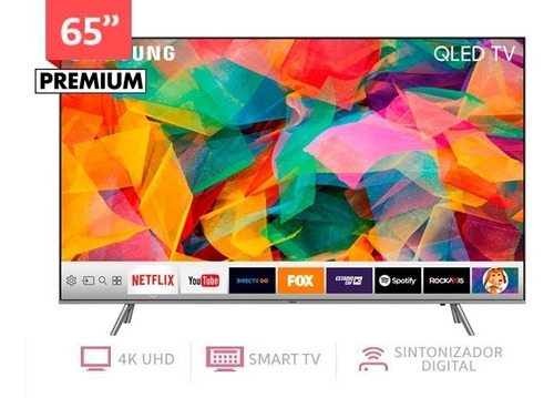 smart tv qled samsung qn65q6 65  4k ultra hd