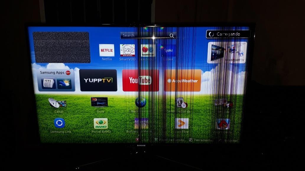 Smart Tv Samsung 46polegada Com Defeito Na Tela