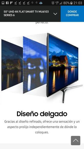 smart tv samsung 55  uhd 4k flat mu6100 serie 6