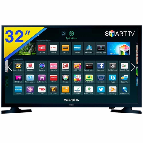 smart tv samsung led 32 ,2 hdmi, usb, wi-fi - un32j4300agxzd