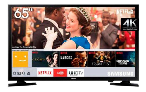 smart tv samsung led 65 polegadas 4k hd preta lh65benelga/zd
