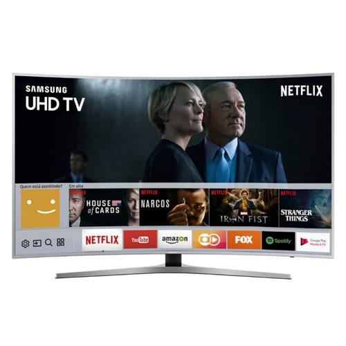 smart tv samsung led curva 55  uhd 4k com hdr premium plataf