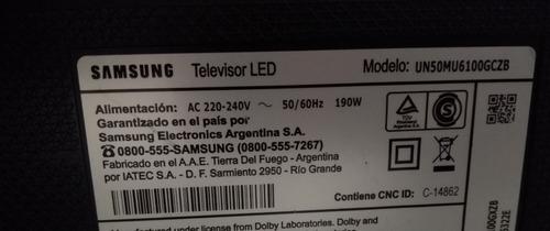 smart tv samsung un50mu6100agczb  pantalla rota leer