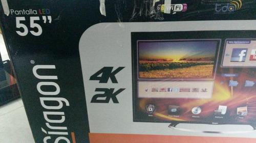 smart tv siragon led 4k ultra slim 55  pulgadas