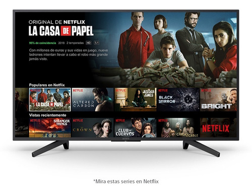 smart tv sony led 49 pulgadas 4k ultra hd - netflix youtube