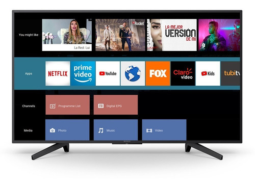 smart tv sony led 55 pulgadas 4k ultra hd - netflix youtube