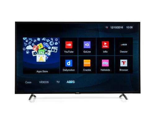 smart tv tcl led 55 pulgadas  fhd 55s4900 control netfilx