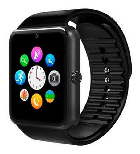 smart watch ginga/techzone con camara color negro