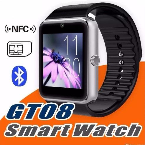 smart watch gt08, función nfc, sim gsm, sd, (ios & android)