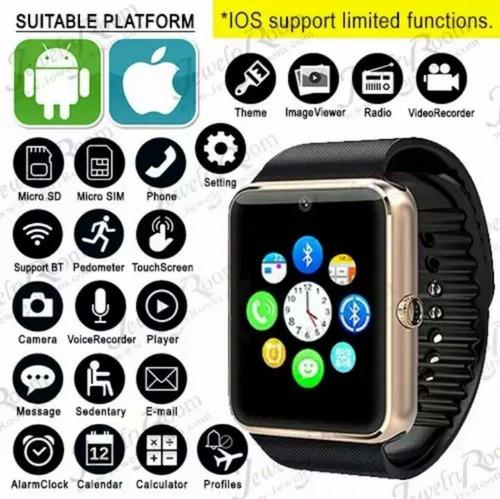 smart watch gt08, función nfc, sim gsm, sd, (ios & androide)