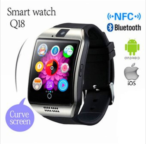 smart watch q18 para android, ios iphone, bluetooth