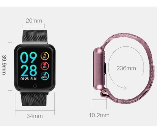 smart watch relógio inteligente sports fitness tracker p70