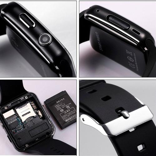 smart watch reloj celular x6 a1 gt08 cámara tactil bluetooth