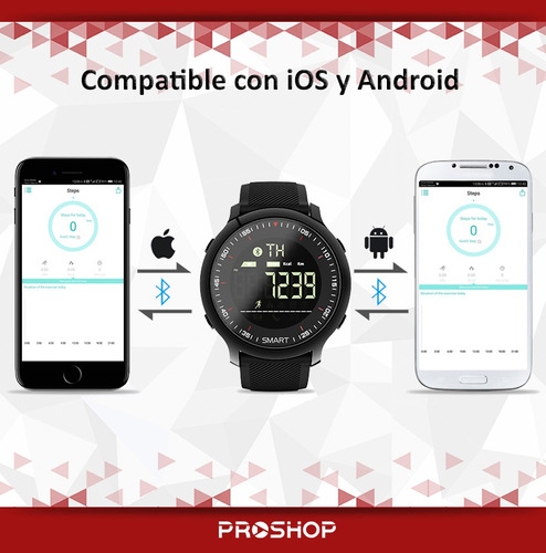 smart watch reloj inteligente deportivo android e ios ex22
