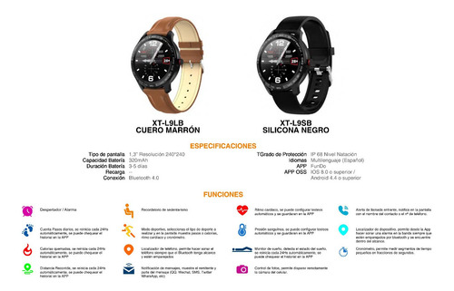smart watch reloj inteligente x time iphone android