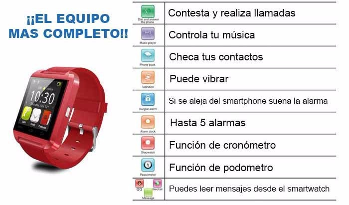 Smart Watch U8 Pro Compatible Con Iphone Y Android